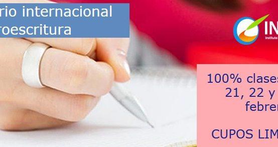 Seminario Internacional en NeuroescrituraImparte Evelyn Aguilera Arce